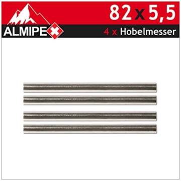 4x Hobelmesser HSS Ersatzmesser HM Wendemesser für Elektrohobel 82 x 5,5 ALMIPEX -