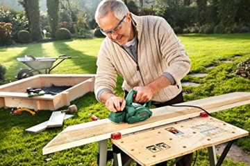 Bosch DIY Handhobel PHO 1500, Hobelmesser, Karton (550 W, Hobelbreite 82 mm, Spantiefe 0 - 1,5 mm, Falztiefe 0 - 8 mm) -