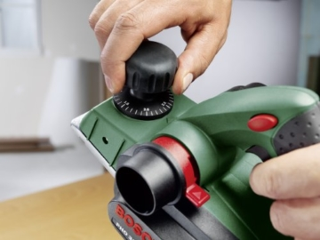 Bosch DIY Handhobel PHO 3100, Hobelmesser, Parallelanschlag, Koffer (750 W, Hobelbreite 82 mm, Spantiefe 0 - 3,1 mm, Falztiefe 0 - 9 mm) -