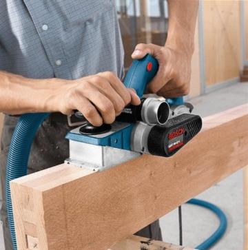 Bosch Professional GHO 40-82 C Hobel, 850-W-Motor, Spandicke einstellbar 0-4mm mit L-BOXX, 1 Stück, 060159A76A -